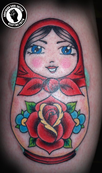 doll tattoo. Tattoos » russian doll