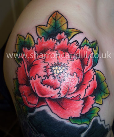 Custom Large Tattoos shoulderpeony