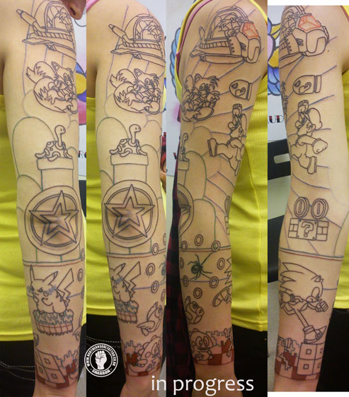 The other piece was a gamer sleeve which included Sonic Mario Pokemon