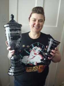1st place for small colour female at manchester tattoo convention 2011