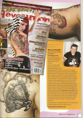 Tattoo revolution mag 13 - interview with me about the female tattoo show