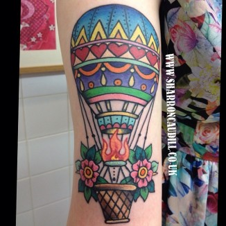 Hot Air ballon tattoo