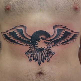 old school traditional eagle tattoo