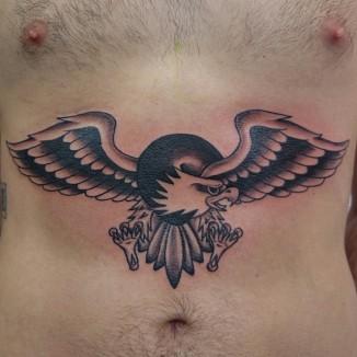 old school traditional eagle tattoo