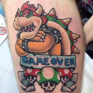 browser mario tattoo