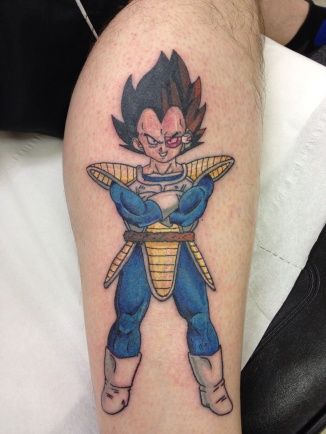 Vegata dragonball z tattoo