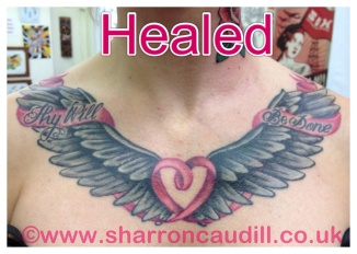 Wings on chest