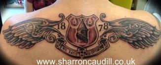 everton badge shoulder piece
